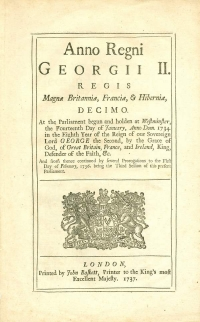 Image of THE LICENSING ACT 1737