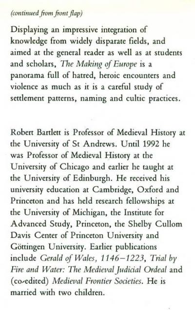 The Making Of Europe Robert Bartlett