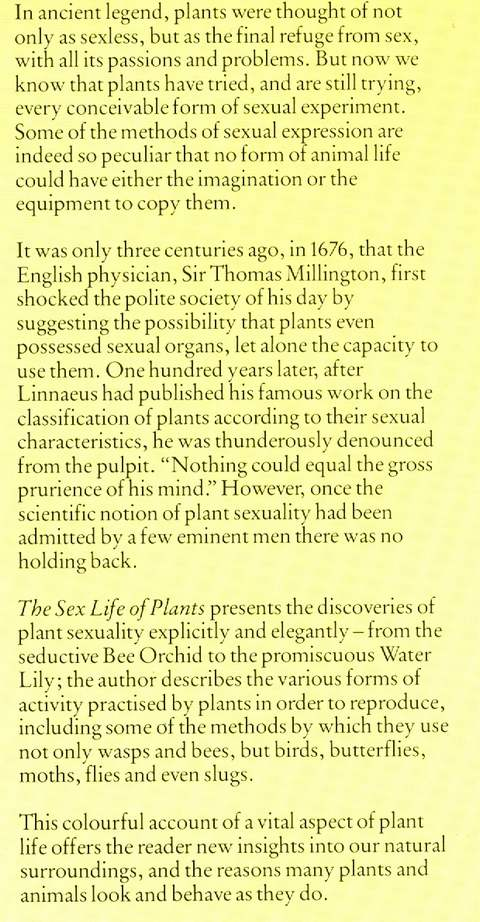 Sex life of plants alec bristow